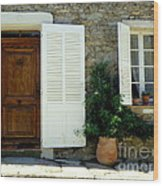 Provence Door Number 4 Wood Print