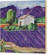 Provence Wood Print by Regina Ammerman