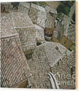 Provence Rooftops Wood Print
