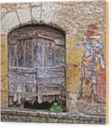 Provence Window And Wall Painting Wood Print
