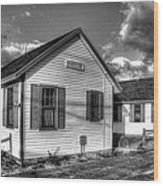 Provincetown Cottages Bw Wood Print