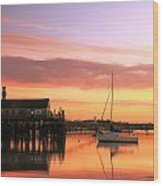 Provincetown Harbor Before Sunrise Wood Print