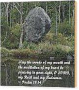Psalm 19 V14a Wood Print