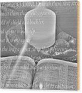 Psalm 35 Wood Print
