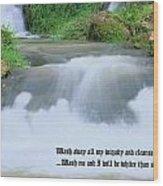 Psalm 51 2 Wood Print by Kristin Elmquist