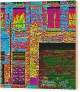 Psychadelic Architecture Wood Print
