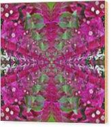 Psychadelic Flower Wood Print