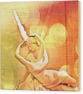 Psyche Revived By Cupid's Kiss Wood Print