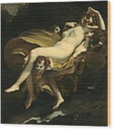 Psyche Transported To Heaven Wood Print