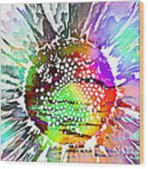 Psychedelic Daisy 2 Wood Print