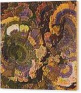 Psychedelic Fungi Wood Print