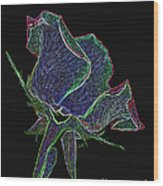 Psychedelic Rose Wood Print