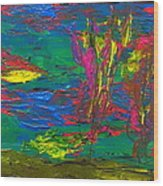 Psychedelic Sea Wood Print