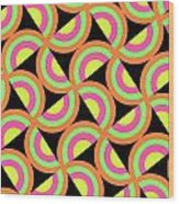 Psychedelic Squares Wood Print