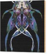 Psycho Frog Bug Wood Print by David Kleinsasser
