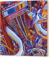 Psychodelic Chopper-1 Wood Print