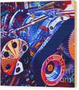Psychodelic Supercharger-1 Wood Print
