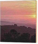 Pt. Reyes Sunset Wood Print