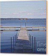 Public Dock On Chautauqua Lake Wood Print