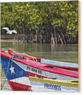 Puerto Rican Fishing Boats Wood Print