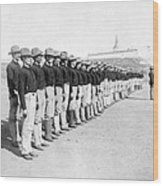 Puerto Ricans Serving In The American Colonial Army - C 1899 Wood Print