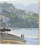Puerto Vallarta Beach Wood Print