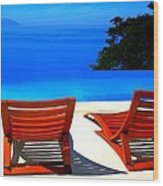 Puerto Vallarta Pool Wood Print
