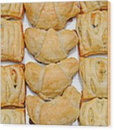 Puff Pastry Party Tray Pano Wood Print