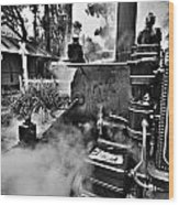 Puffing Billy Black And White V2 Wood Print