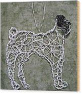 Pug Wood Print by Charlene White