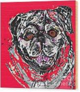 Pug Wood Print