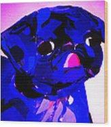 Pug Pup Wood Print