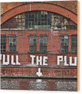 Pull The Plug Wood Print by Aurica Voss