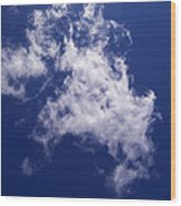 Pulled Cotton Clouds Wood Print