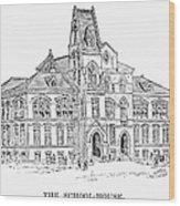 Pullman: Schoolhouse Wood Print