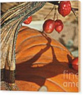 Pumpkin Berries Wood Print