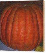 Pumpkin In Spain Wood Print