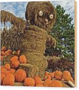 Pumpkin King Wood Print