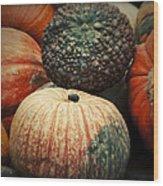 Pumpkin Mix Wood Print