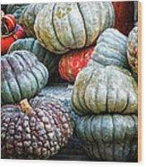 Pumpkin Pile II Wood Print
