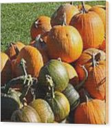 Pumpkin Pile  Wood Print