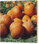 Pumpkin Pileup Wood Print