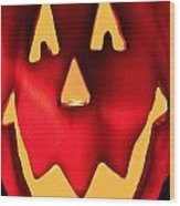 Pumpkin Smile Wood Print