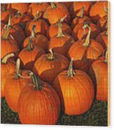 Pumpkin Strike Wood Print