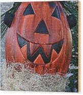 Pumpkinhead Wood Print