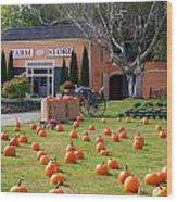 Pumpkins Everywhere Wood Print