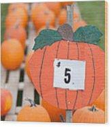 Pumpkins For Sale II Wood Print
