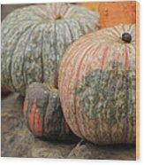 Pumpkins Galore V1 Wood Print