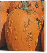 Pumpkinville Wood Print