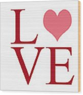 Pure Love Wood Print